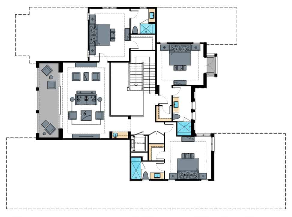 Edgewater Floor Plan - Second Floor, Enclave of Distinction, Naples Custom Home Builders, Naples Luxury Home Builders, Luxury Custom Homes in Naples, Naples Fl New Home Builders, Naples Custom Home Builders, Custom Homes Builders in Naples, Naples Luxury Home Builders, Home lots in North Naples, North Naples Lot and Home Packages